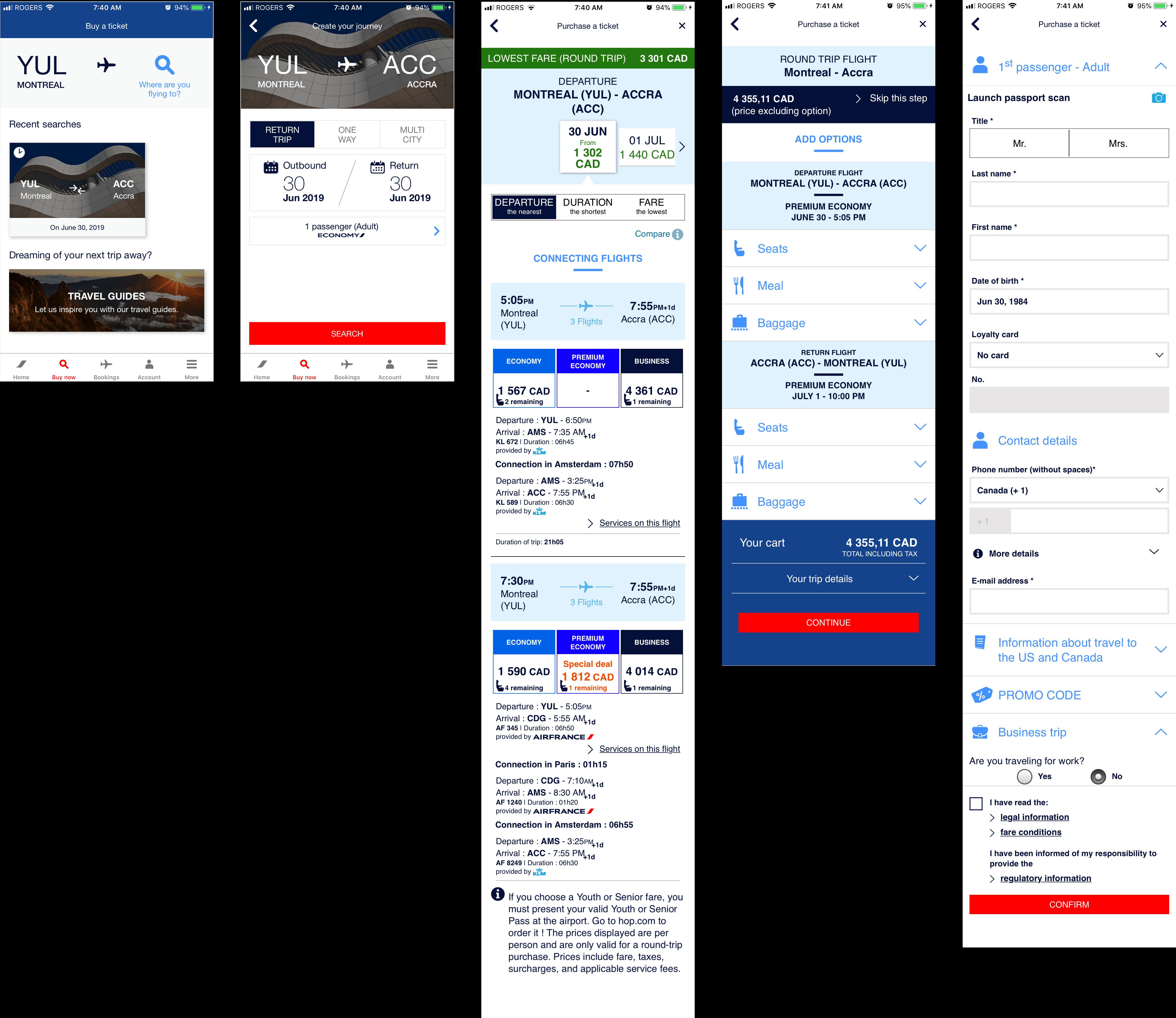 Air France Task Flow